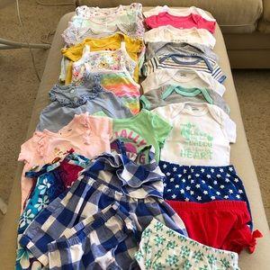 Girl's 6-9 Month 23 Piece Summer Bundle